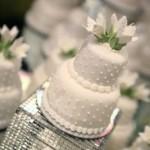 Bolos decorados doces e bem casados para casamento
