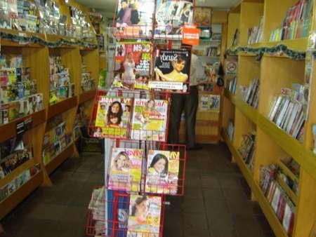 banca de revistas e jornal