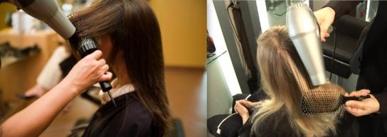 como fazer escova nos cabelos