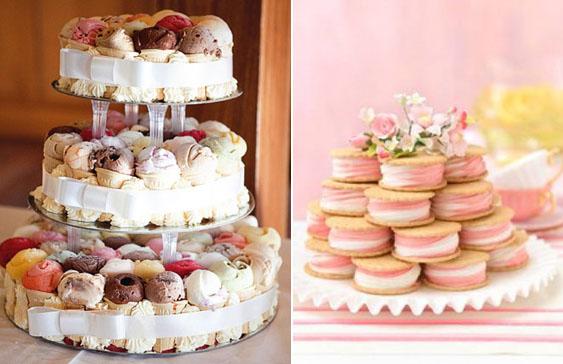 bolo de sorvete de casamento