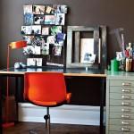 home office cadeira laranja