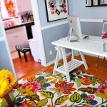home office tapete florido